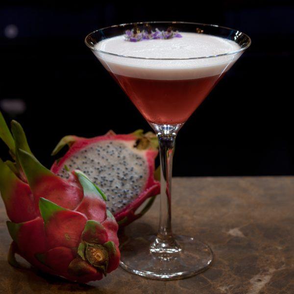 Dragon Fruit & Pomegranate Martini
