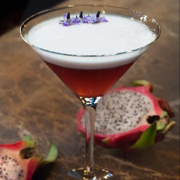 Dragon Fruit & Pomegranate Martini