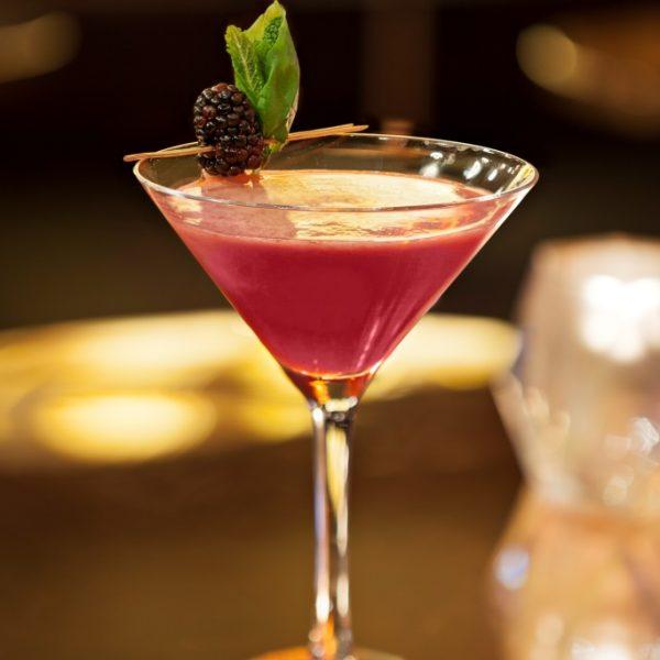Blackberry & Thai Basil Martini