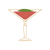 an illustration of the Blood Peach cocktail.