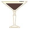 an illustration of the Coconut Espresso Martini cocktail.