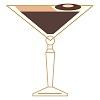 an illustration of the Mocha Espresso Martini cocktail.